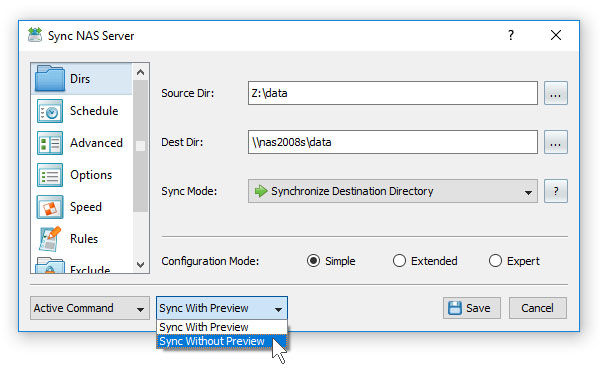 SyncBreeze Synchronize Files Without Preview