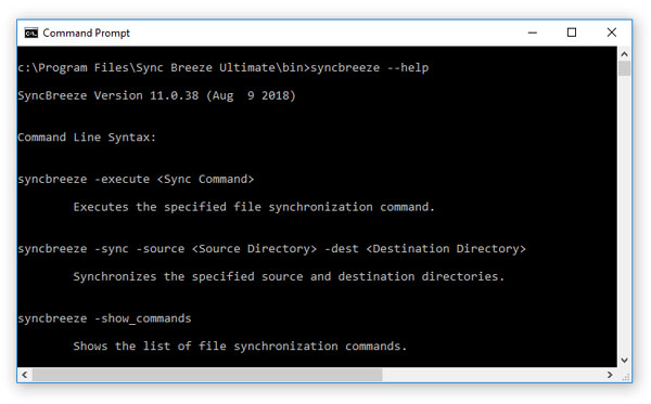 SyncBreeze Command Line Utility