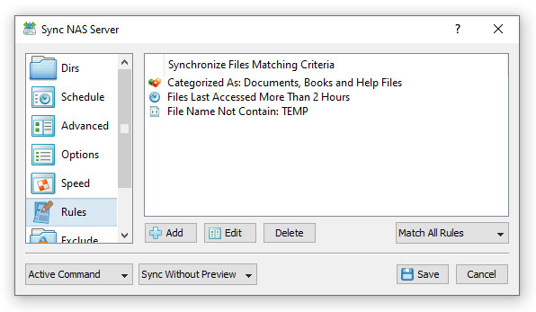 File Synchronization Rules