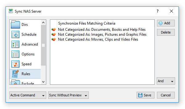 Exclude Files From Synchronization By File Type