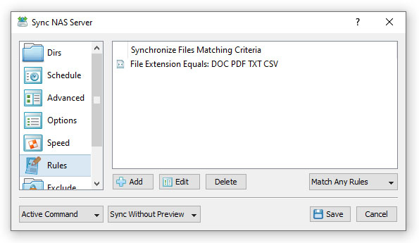 SyncBreeze File Synchronization Rules Extensions
