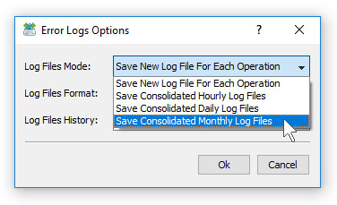File Synchronization Logs Mode